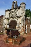 Ruins of the Kota A Famosa Portuguese Fortress in Malacca Stock Photography