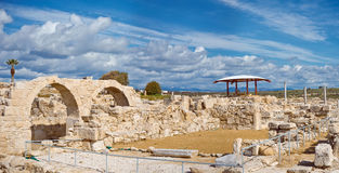 Ruins of Kourion, archaeological site located near Limassol.  Stock Photo