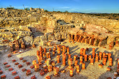 Ruins of Kourion in Cyprus Stock Photography
