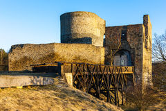 Ruins of Krakovec Castle. Czech Republic Stock Photos