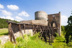 Ruins of Krakovec Castle. In Czech Republic Royalty Free Stock Photos