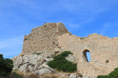 Ruins of the Kritinia Castle Stock Photography