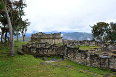 Ruins of Kuelap, the lost city of Chachapoyas, Peru. The lost city of Kuelap belonged to the Chachapoyas indian tribe, and is one of the most important stock images