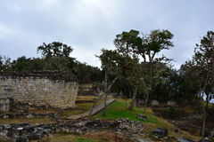 Ruins of Kuelap, the lost city of Chachapoyas, Peru. The lost city of Kuelap belonged to the Chachapoyas indian tribe, and is one of the most important royalty free stock images