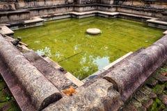 Ruins of Kumara Pokuna in Polonnaruwa Stock Photo