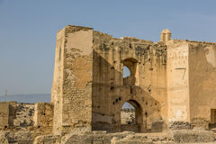 Ruins of La Alcazaba Royalty Free Stock Photography
