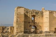 Ruins of La Alcazaba. There are ruins of the Alcazaba de Almeria royalty free stock photography