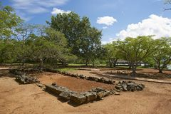 Ruins of La Isabella settlement in Puerto Plata, Dominican Republic. Stock Photography