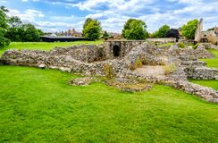 Ruins of Lady Chapel and Crypt at St Augustine's Abbey in Canter. Canterbury, Kent, UK: Ruins of Lady Chapel and Crypt part of St Augustine's Abbey stock image