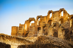 Ruins of the largest colosseum in in North Africa. El Jem,Tunisi Royalty Free Stock Photography