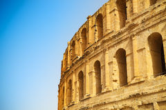 Ruins of the largest colosseum in in North Africa. El Jem,Tunisi Royalty Free Stock Images