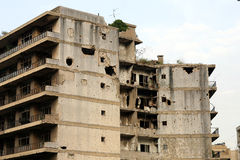 Ruins from Lebanese Civil War Royalty Free Stock Photo
