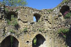 The ruins of Leeds Castle in England Royalty Free Stock Images