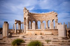 Ruins of Leptis Magna Royalty Free Stock Photos