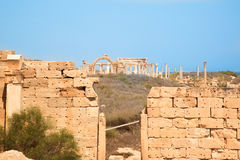 Ruins in Leptis Magna, Libya Stock Images