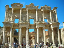 The ruins of the library in Efes. Royalty Free Stock Photography