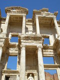 The ruins of the library in Efez in Turkey Royalty Free Stock Photography
