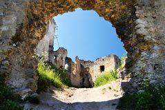 Ruins of lietava castle Royalty Free Stock Photography