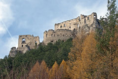 Ruins of Lietava castle Stock Photography