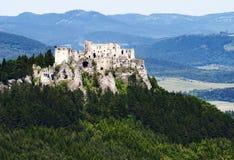 Ruins of lietava castle Stock Photos