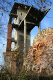 Ruins of lime kiln. In Sulejow Poland stock image
