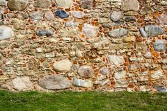 Old brick textures of the Livonia Order Castle was built in the middle of the 15th century. Bauska Latvia stock image