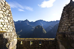 Ruins of the lost Inca city Machu Picchu in Peru - South America Royalty Free Stock Photography