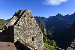 Ruins of the lost Inca city Machu Picchu in Peru - South America. Ruins of the lost Inca city Machu Picchu in the Andes in Peru - South America Stock Image