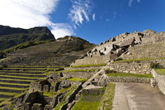 Ruins of the lost Inca city Machu Picchu in Peru - South America Royalty Free Stock Images