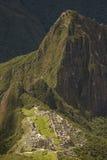 Ruins of Lost Incan City Machu Picchu and Wayna Picchu near Cusco in Peru Royalty Free Stock Image