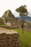 Ruins of Lost Incan City Machu Picchu and Wayna Picchu near Cusco in Peru Royalty Free Stock Images