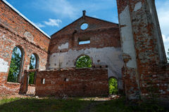 Ruins of the Lutheran Church of St. Yakkim in Lahdenpohja. Republic of Karelia, Russia. Stock Photos