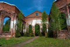Ruins of the Lutheran Church of St. Yakkim in Lahdenpohja. Republic of Karelia, Russia. Royalty Free Stock Photos