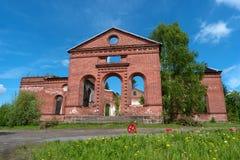 Ruins of the Lutheran Church of St. Yakkim in Lahdenpohja. Republic of Karelia, Russia. Stock Images