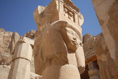 Ruins of luxor temple Stock Photography