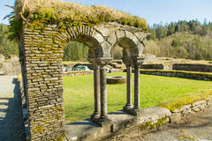 Ruins of lyse abbey monastery Stock Images