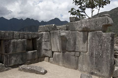 The ruins in Machu Picchu Stock Images