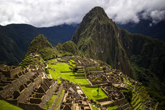 Ruins of Machu Picchu From Above Royalty Free Stock Image