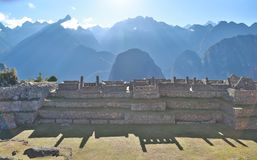 Ruins of Machu Picchu. The city of Machu Picchu, Peru. One of the New Seven Wonders of the World Stock Photography