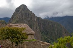 The Ruins of Machu Picchu. The fabulous Inca ruins of Machu Picchu, Peru perched high in the Andes Mountains stock images