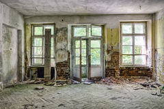 The ruins of a manor house Stock Photo