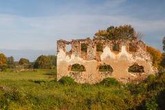 Ruins of the manor near Turgelyay Royalty Free Stock Image