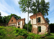 Ruins of the manor of the 19th century. In Asare, Latvia Stock Photography