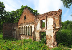 Ruins of the manor of the 19th century. In Asare, Latvia Royalty Free Stock Image