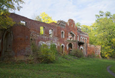 The ruins of the mansion Wrangel, september day. Tarasovo, Leningrad region Royalty Free Stock Photos