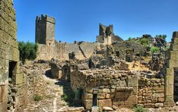 Ruins of Marialva historical village in Meda royalty free stock photo