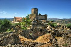 Ruins of Marialva historical village in Meda royalty free stock photography