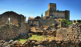Ruins of Marialva historical village in Meda stock image