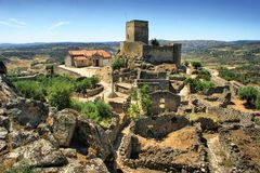 Ruins of Marialva historical village in Meda stock images