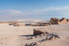 Ruins of Masada Stock Photography